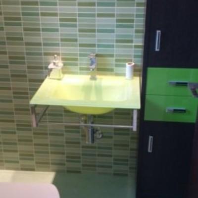 baño en verde