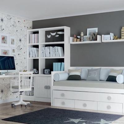 Dormitorio blanco juvenil