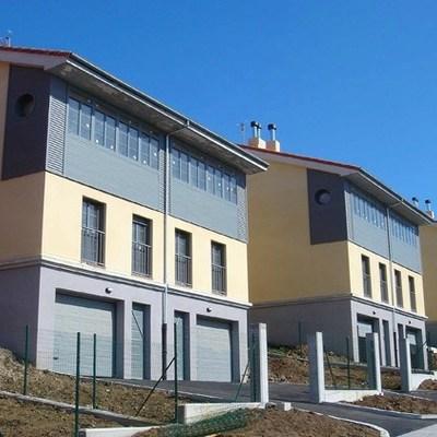 Grupo de viviendas pareadas en Luanco. Gozón