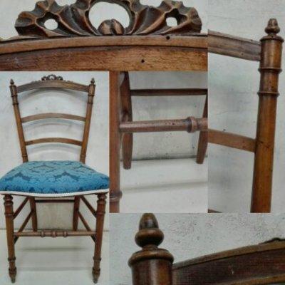 Restauración de silla con carcoma