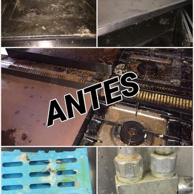 Limpieza de cocina industrial