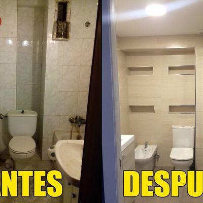 Baño antes y después de la obra