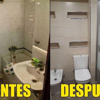 Baño ducha antes y después