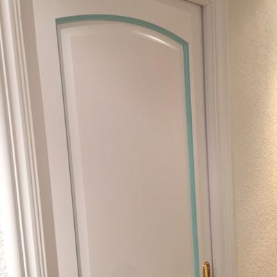 puerta lacada rayas verdes