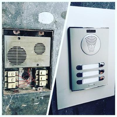 Sustitución interfonos averiados por vandalismo