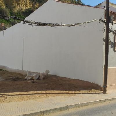 Picado de muros y enfoscados con arreglo de cumbrera.