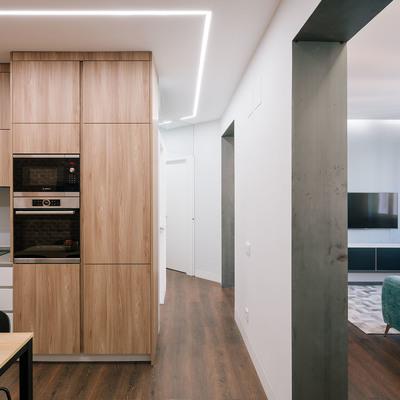 Paso entre cocina y salón
