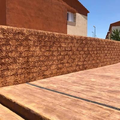 muro con acabado impreso vertical