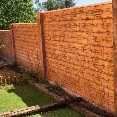 muro hormigon con acabado impreso