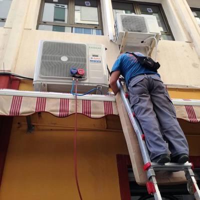 Instalación de una máquina de aire marca EKOKAI
