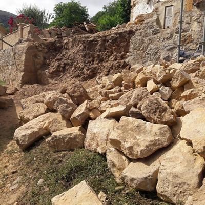 muro de piedra base