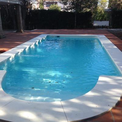 final de la constucción de la piscina