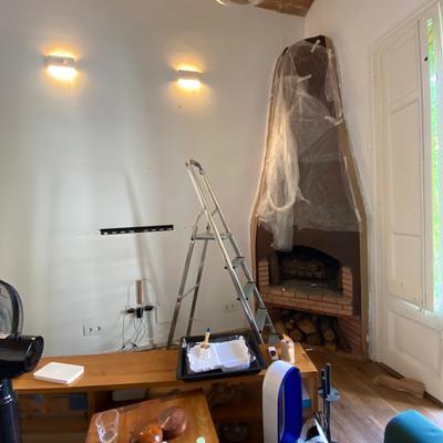 Pared de sala pintada