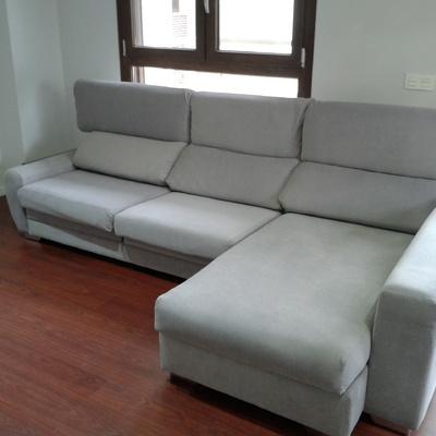 sofa tapizado en tejido lavable