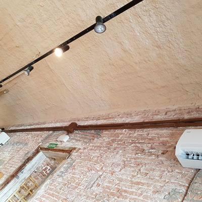 Mortero proyectado  de Perlita y Vermiculita sobre techo