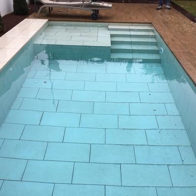 Piscina privada revestida con azulejo
