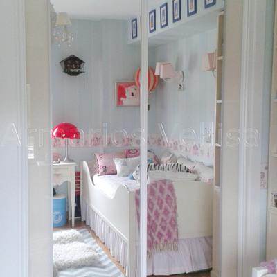Armario empotrado en dormitorio juvenil