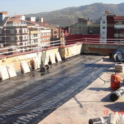 Terraza lamina asfaltica