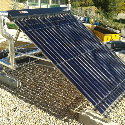 Instalación solar térmica para limpieza industrial en Morata de Tajuña