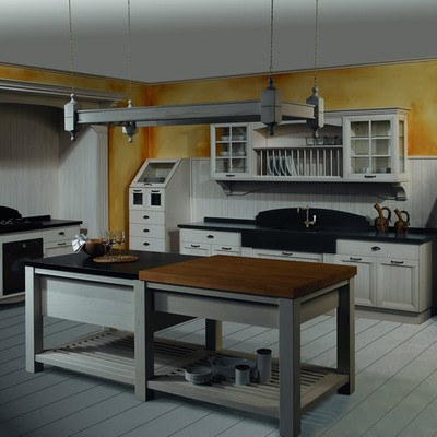 Cocina clásica madera lacada