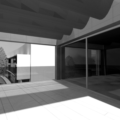 La terraza...