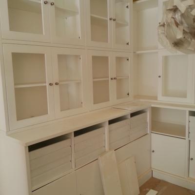 Mueble salon con vitrina
