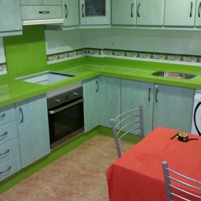 cocina en Silestone