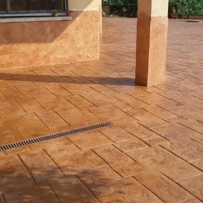 Monocapa y  pavimento impreso