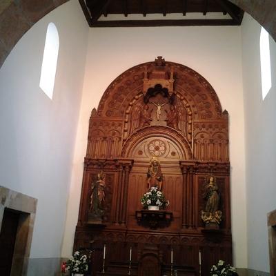 Iglesia de Sales restaurada y pintada.