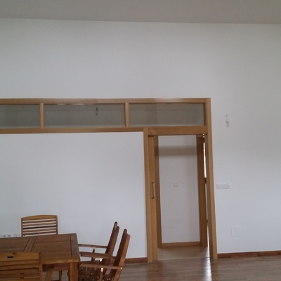 Puerta-ventana interior de madera