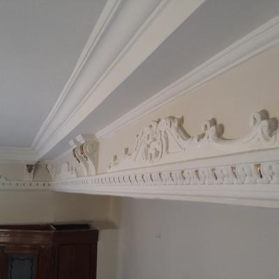 detalle de techo de escayola