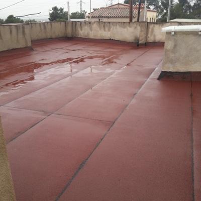 inpermeabilizacion tela asfaltica de cuarzo rrojo