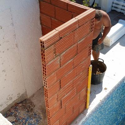 construccion de ducha