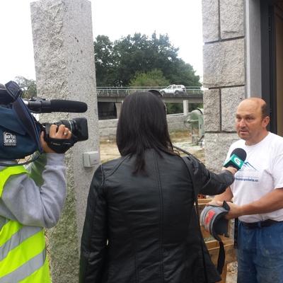 Hoy recibimos la visita en obra de la TVG. Galicia se hace eco del trabajo bien hecho.