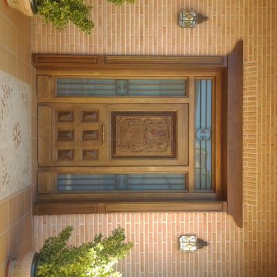 Puerta de calle con decoración especial