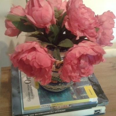 Unas flores de bienvenida.