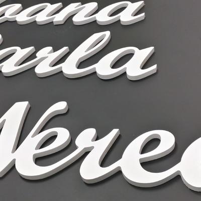 Letras cortadas de pvc de 10 mm