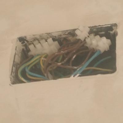 caja de registro cableada
