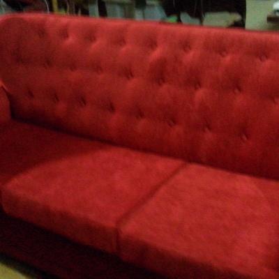 tres plazas cama rojo