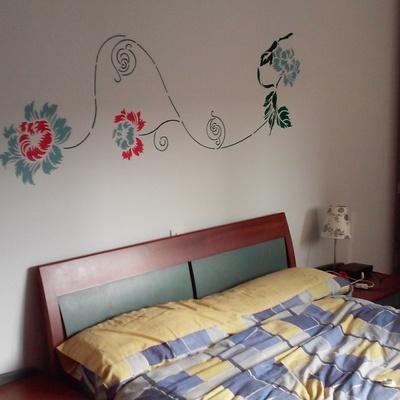 mural decorativo en habitación principal