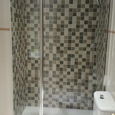 Reforma en zona de ducha después
