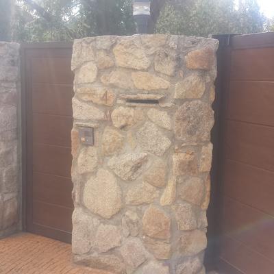 Puerta imitación madera