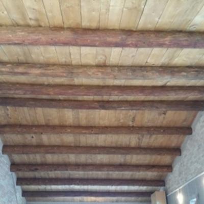 Teulada amb fusta del Pirineu