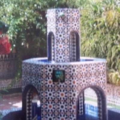 Fuente de patio de jardín.