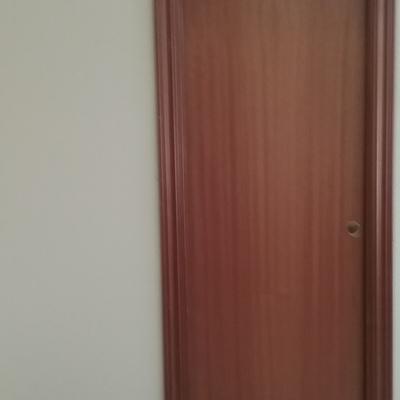 Colocacion de pared con puerta corredera lateral izquierdo