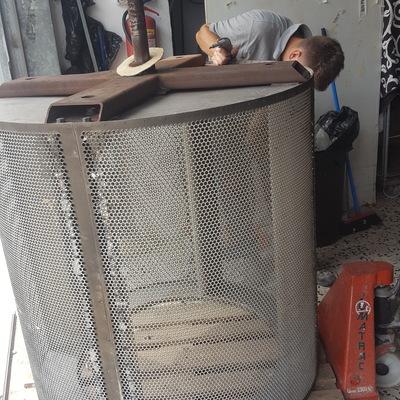 Reparación y equilibrado tambor secadora industrial