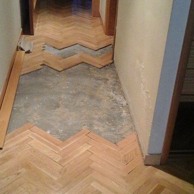reparacion de suelo parquet espiga