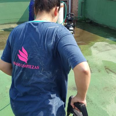 Limpieza de Patio Con Hidrolimpiadora