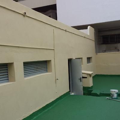 Arreglo y pintado del patio de comunidad en torremolinos.