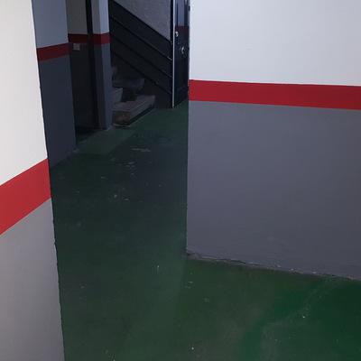Pintado de paredes y suelo